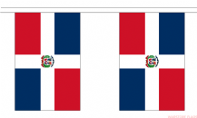 DOMINICAN REPUBLIC BUNTING - 3 METRES 10 FLAGS